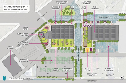 Grand River @ 14th Site Plan